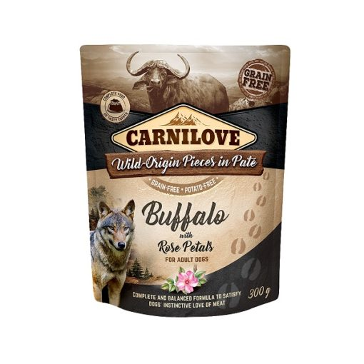 carnilove buffalo with rose blossom for adult dogs wet food pouches 300g1 - Carnilove Buffalo With Rose Blossom For Adult Dogs