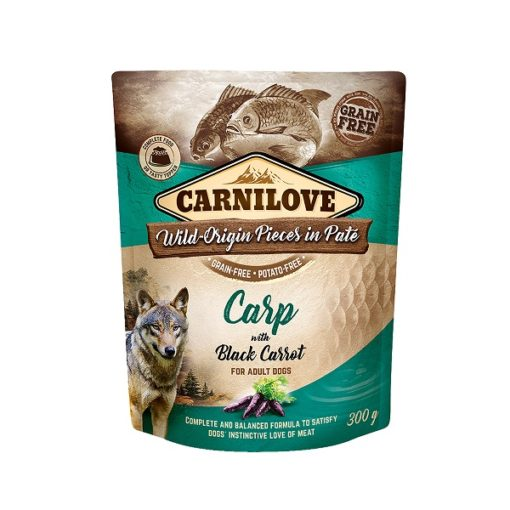 carnilove carp with black carrot for adult dogs wet food pouches 300g1 - Carnilove Carp With Black Carrot For Adult Dogs