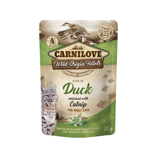 carnilove duck enriched with catnip for adult cats wet food pouches 85g1 - Carnilove Duck Enriched With Catnip For Adult Cats