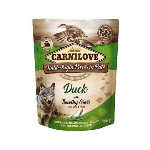carnilove duck with timothy grass for adult dogs wet food pouches 300g1 - Carnilove Duck With Timothy Grass For Adult Dogs