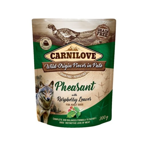 carnilove pheasant with raspberry leaves for adult dogs wet food pouches 300g1 - Carnilove Pheasant With Raspberry Leaves For Adult Dogs