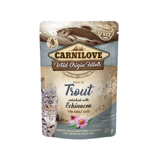 carnilove trout enriched with echinacea for adult cats wet food pouches 85g1 - Carnilove Trout Enriched With Echinacea For Adult Cats