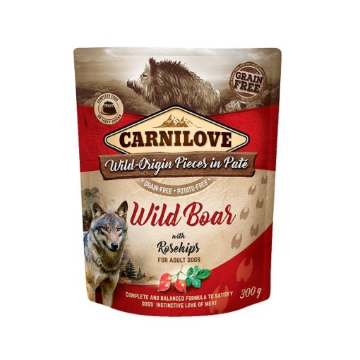 carnilove wild boar with rosehip for adult dogs wet food pouches 300g1 - Carnilove Wild Boar With Rosehip For Adult Dogs
