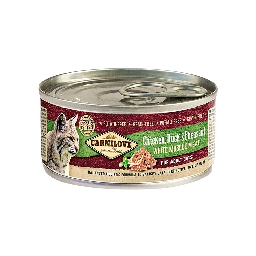 chicken duck pheasant white muscle meat - Carnilove Chicken, Duck & Pheasant For Adult Cats