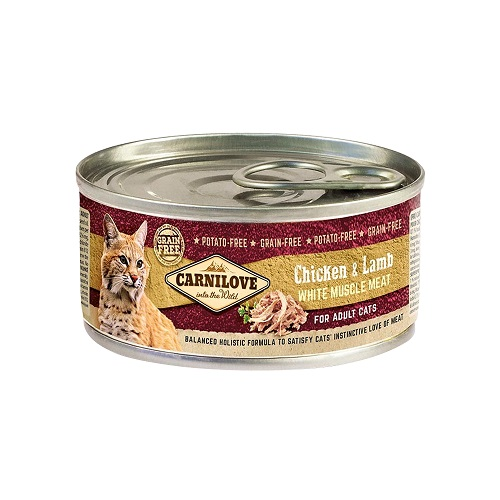 chicken lamb white muscle meat - Carnilove Chicken & Lamb For Adult Cats