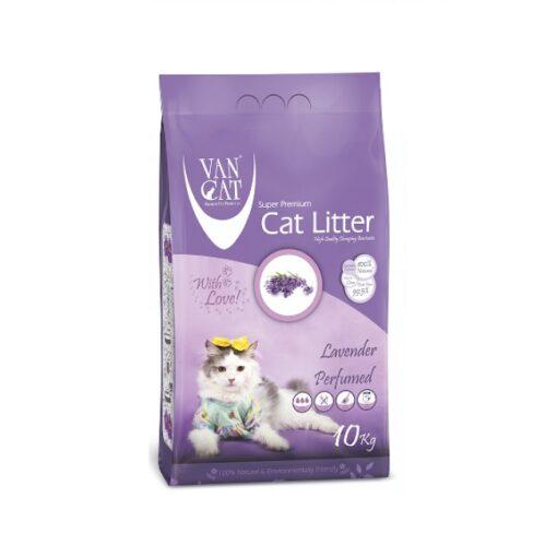 lavender 10kg 1000x1000 1 - Van Cat White Bentonite Clumping Cat Litter Lavender 10Kg