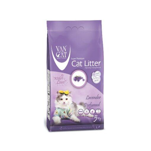 lavender 5 kg 1000x1000 1 - Van Cat White Bentonite Clumping Cat Litter Lavender 5Kg