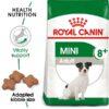 rc shn adultmini8 mv eretailkit - Royal Canin Size Health Nutrition Mini Adult 8+