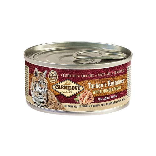 turkey reindeer white muscle meat - Carnilove Turkey & Reindeer For Adult Cats