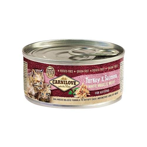 turkey salmon white muscle meat for kitten - Carnilove Turkey & Salmon For Kittens