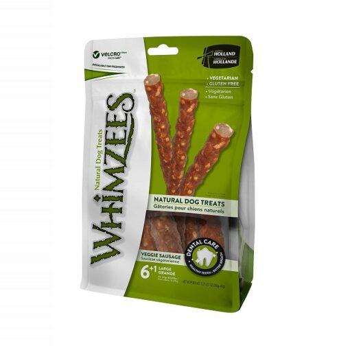 veggie sausage - Whimzees Veggie Sausage Large 6+1 pcs