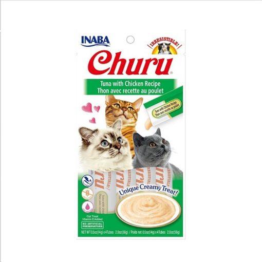 855958006563 CHICKEN - Inaba Churu Tuna With Chicken Recipe Cat Treat