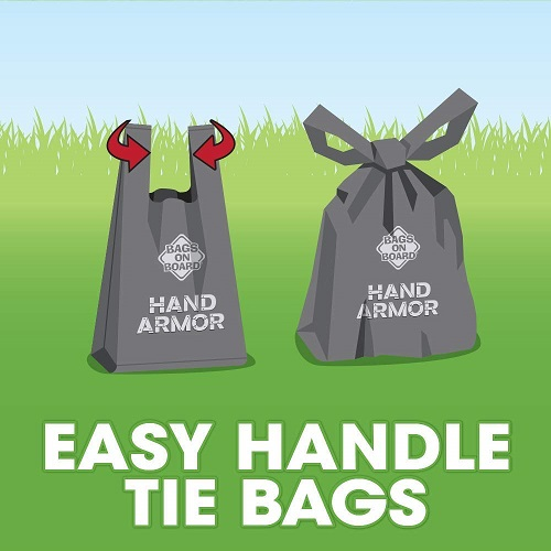 BOB Hand Armor 6 - BOB Hand Armor with Extra Thick Pick Up Bags