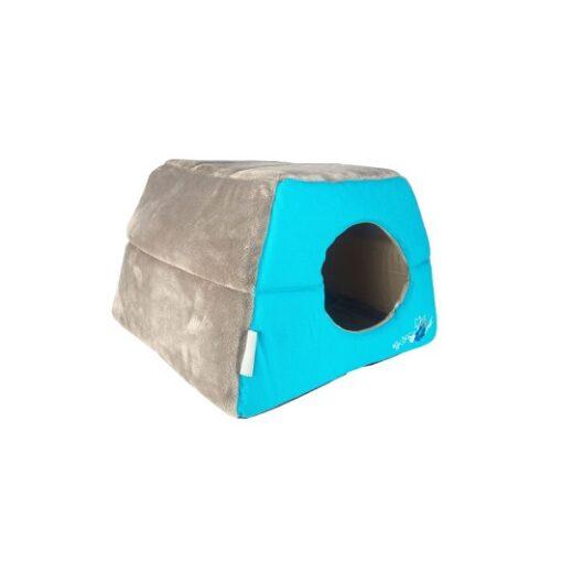 Cats Beds Igloo Podz CIP04 Blue Floral Side Pop Up - Rogz Catz Igloo Blue Floral