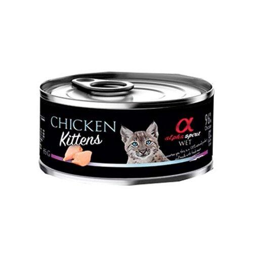 Wet Food CHICKEN Kittens - Alpha Spirit - Wet Food CHICKEN for Kittens 85g