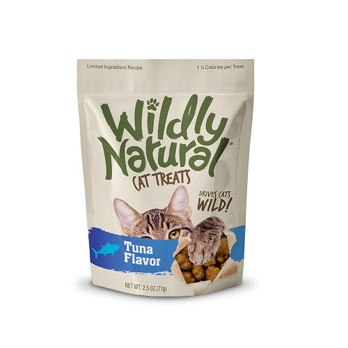 WildyNatural TunaFlavor front - Fruitables Wildly Natural Cat Treats Tuna Flavor