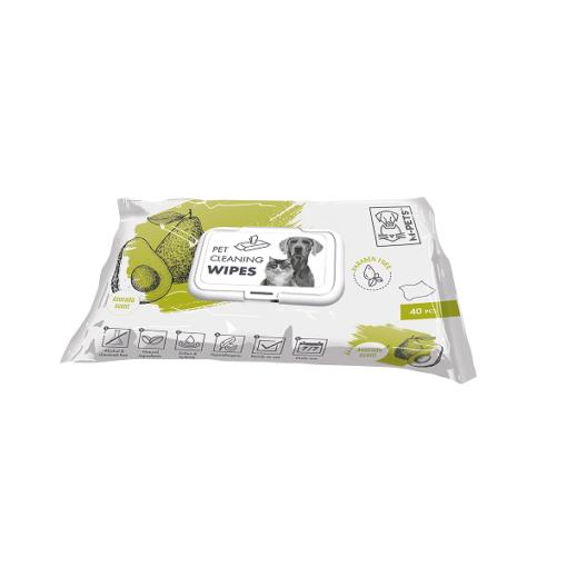 m pets pet cleaning wipes avocado 40pcs - M-PETS Pet Cleaning Wipes Avocado 40pcs