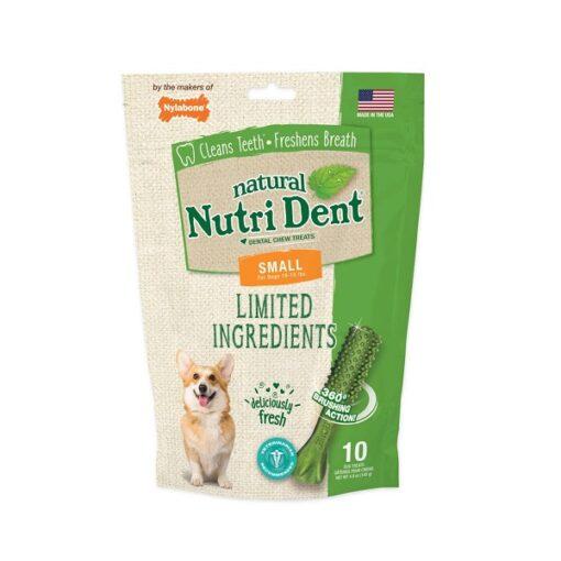 ntd441m10p 1 1 - Nylabone Nutri Dent Natural Dental Fresh Breath Flavored Chew Treats 10 Count