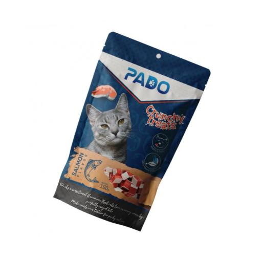 pado crunchy cat treats salmon 100g - Pado Crunchy Cat Treats Salmon 100g