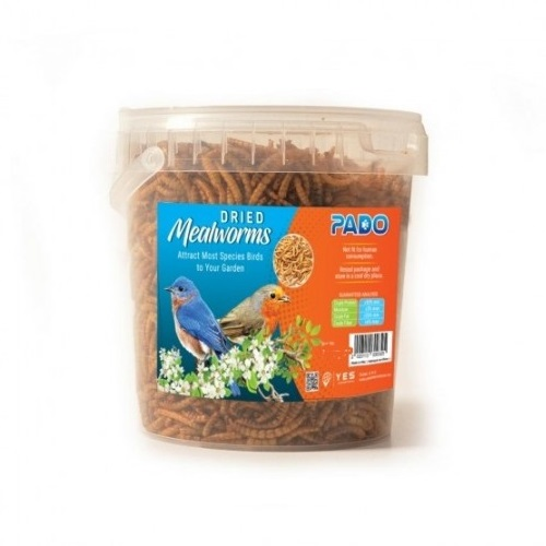 pado meal worms100 - Pado Dried Meal Worms Food For Birds