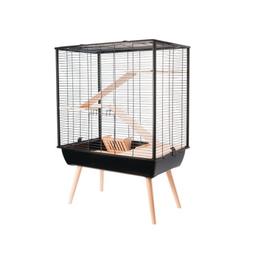 205620noi 1 - Zolux Neo Cosy Large Rodent Cage - Black
