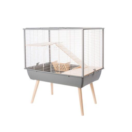 205621gri 1 - Zolux Neo Muki Large Rodent Cage - Grey