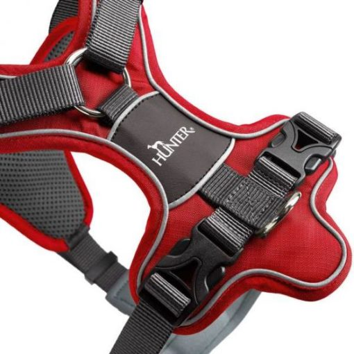 300543 red 2 1 - Hunter Divo Dog Harness Red