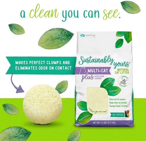 6319 2 - Sustainably Yours Natural Cat Litter Plus