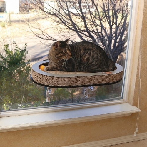 9075 1000x1000 1 - K&H Universal Mount Kitty Sill With Cardboard Track