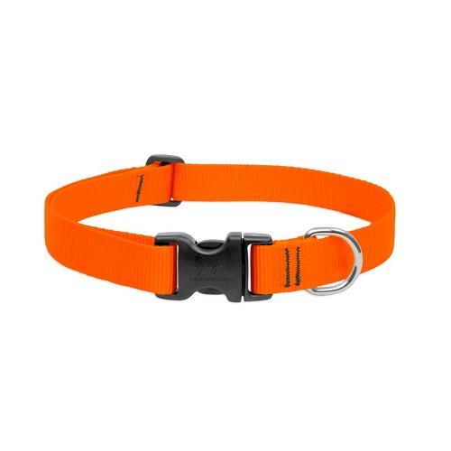 BASICS Adjustable Collar Black Orange - BASICS Adjustable Collar Orange 3/4″ For Medium Dogs