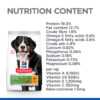 Dog Senior Vitality Chicken Large Nutrients - Hill's Science Plan Senior Vitality Large Breed Mature Adult 6+ Dog Food With Chicken & Rice