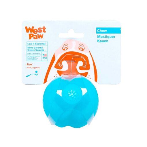 Jive Dog Toy AQ L - Westpaw Design Jive Dog Ball Aqua