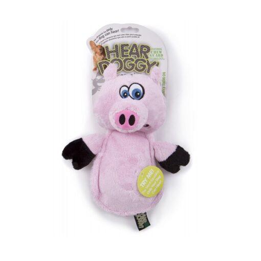 Q70301 1000x1000 1 - HEAR DOGGY! Flatties Pig Chew Guard Ultrasonic Squeaker Plush Dog Toy