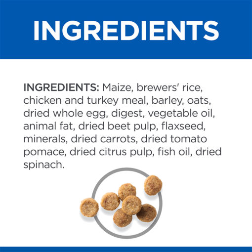 SP Senior Vitality Small Mini Ingredients - Hill's Science Plan Senior Vitality Small & Mini Mature Adult 7+ Dog Food With Chicken & Rice