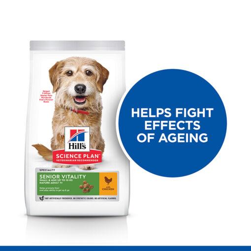 SP Senior Vitality Small Mini Killer Claim - Hill's Science Plan Senior Vitality Small & Mini Mature Adult 7+ Dog Food With Chicken & Rice