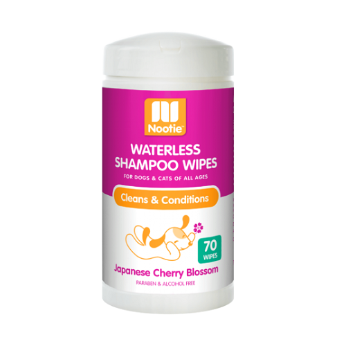 Waterless Shampoo Wipes Japanese Cherry Blossom 3D 347x537 1000x1000 1 - Nootie Waterless Shampoo Wipes – Japanese Cherry Blossom 70 Count