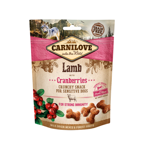carnilove lamb with cranberries crunchy snack for sensitive dogs 200g1 - Carnilove Lamb With Cranberries Crunchy Snack For Sensitive Dogs 200g