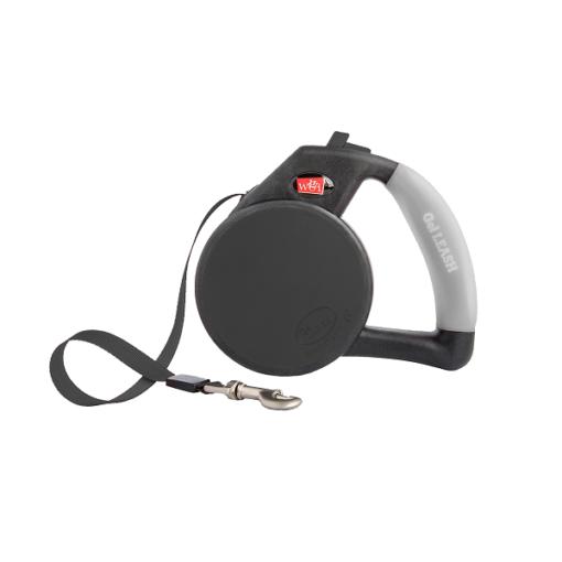 wigzi retractable tape gel handle leash black1 1 - Wigzi Retractable Tape Gel Handle Leash Black