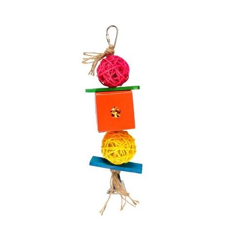 850452 24cm 1 - Flamingo Bird Toy Papyr Parakeet Cube MultiColour