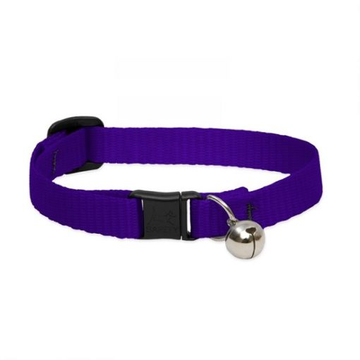 Basic Solids Safety Cat Collar Purple bell - Basic Solids Safety Cat Collar with Bell Purple