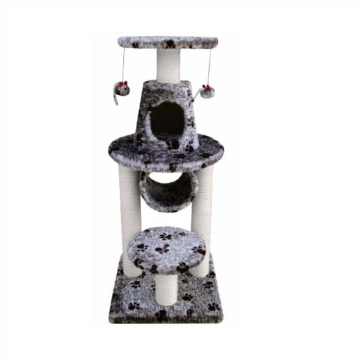 FICP 110 0091 - Bonalti Cat Play Tower Grey With Paw Print