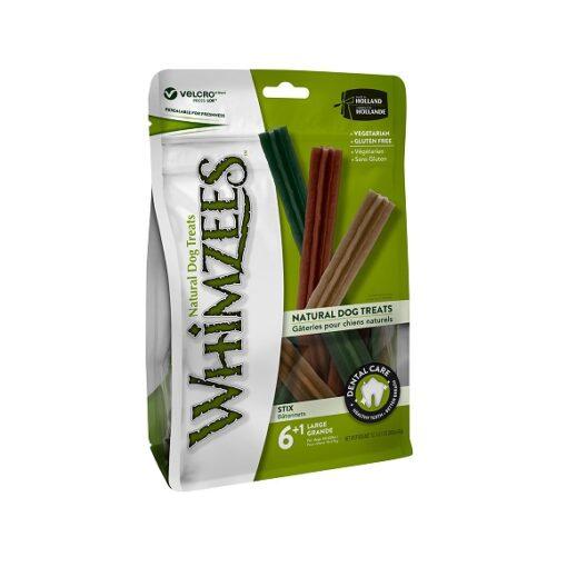 Stix Large - Whimzees Stix Large Mix Brown Green Orange 6+1 pcs