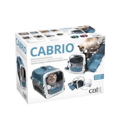 ha41372 f - Cabrio Cat Carrier System - Blue Grey