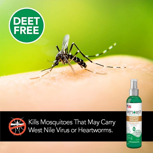 mosquito repellent 3 - Vet's Best Mosquito Repellent for Dogs and Cats