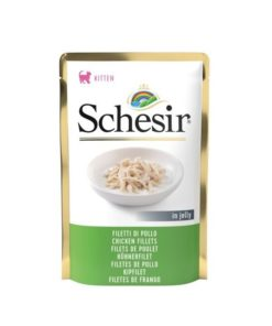 schesir cat pouch jelly chicken fillets 85gm - Deals