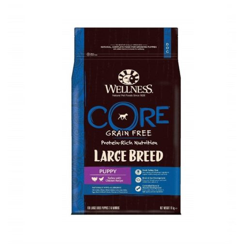 076344107781 - Wellness CORE Puppy Turkey with Chicken Recipe Large Breed Dog Dry Food