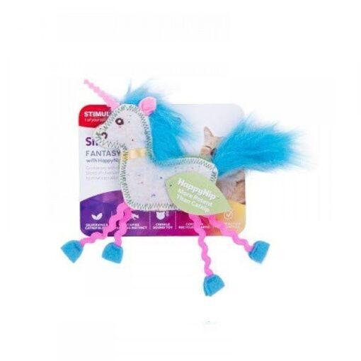 38806 1000x1000 1 - SmartyKat Fantasy Frenzy Crinkle Unicorn Catnip And Silvervine Cat Toy
