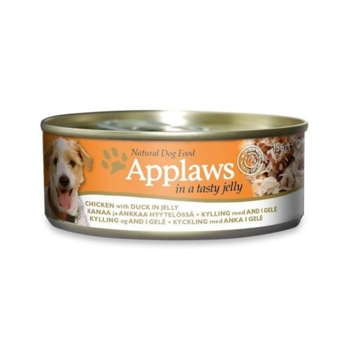 439514 1 - Applaws Dog Chicken with Duck in Jelly 156g Tin