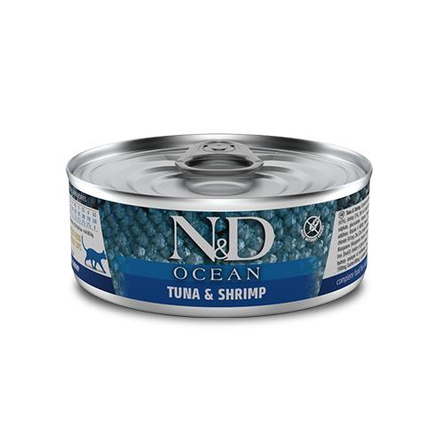 491 55 nd ocean feline 80g tuna shrimp@web x site - Farmina N&D Wet Ocean Cat Tuna Cod Shrimp & Pumpkin 80g