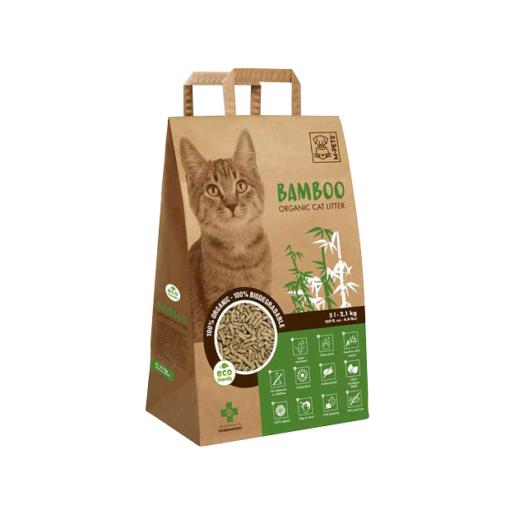 6953182732990 - M-Pets Bamboo Organic & Biodegradable Cat Litter